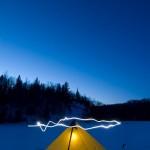 Light painting on Mink Lake