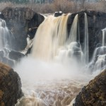The High Falls of the Pigeon River in Grand Portage, Minnesota.