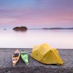 kayak camping in Canada