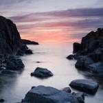 Lake Superior sunrise from Thompson Island