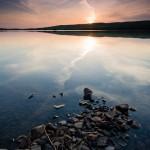 Two Island Lake sunset