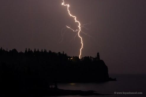 Lightning over Split Rock Lighthouse
