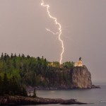 Lightning strike of Split Rock Lighthouse