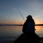 fishing at sunset on Devil Track