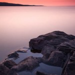 Sunrise over Artist's Point in Grand Marais, Cook County, Minnesota.