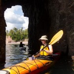 Kayaking trip at Tettegouche State Park.