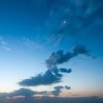 Waning Crescent Moon and Venus at Dawn.