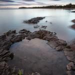 Sunrise on Paradise Beach, Cook County, Minnesota. Lake Superior.