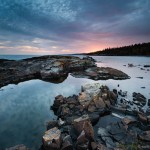 Sunset over Lake Superior, Grand Marais, Cook County, Minnesota