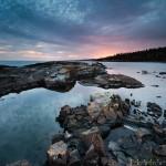 Sunset over Lake Superior From Grand Marais