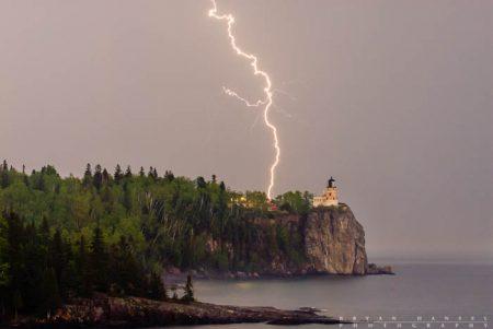 Lightning at Split Rock Lighthouse