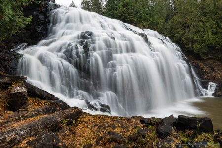 Partridge Falls near Grand Portage in the fall. Minnesota.