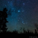 night sky near the BWCA