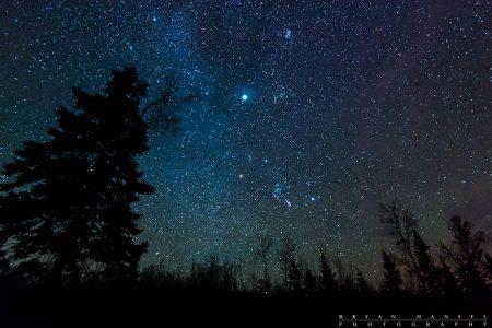 night sky near the BWCA