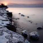 icy lake superior shore