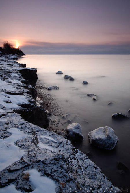 icy lake superior shore