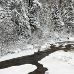 snow on the north brule river