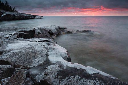 Artist's Point sunrise, Cook County, Minnesota.