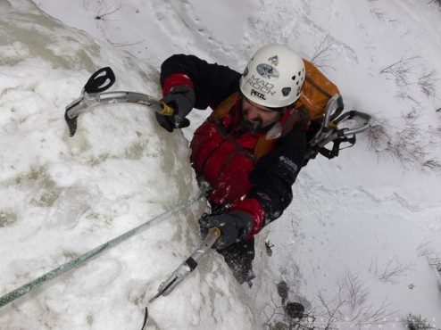 ice climbing in Minnesota