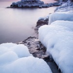 Lake Superior sunset in winter