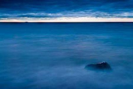 Sunrise over Lake Superior near Five MIle Rock.