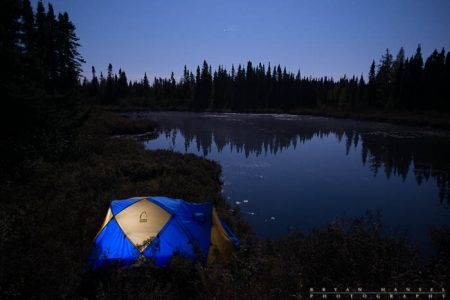 night photography and tent