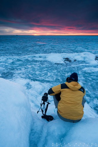 photographer at winter workshop