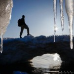 standing on an ice arch