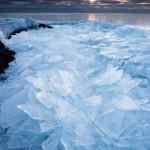 Ice piles at Terrace Point, Minnesota