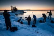 photographers on lake superior winter photography workshop