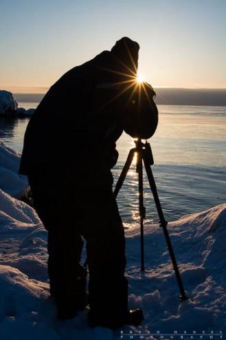 photographer and sunris