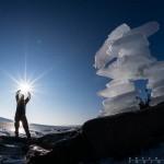 holding the sun in grand marais