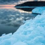 ice pile on lake superior grand portage