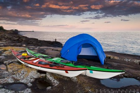 kayak camping on Lake Superior