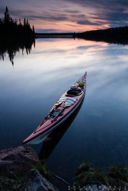 kayak on Cascade Lake