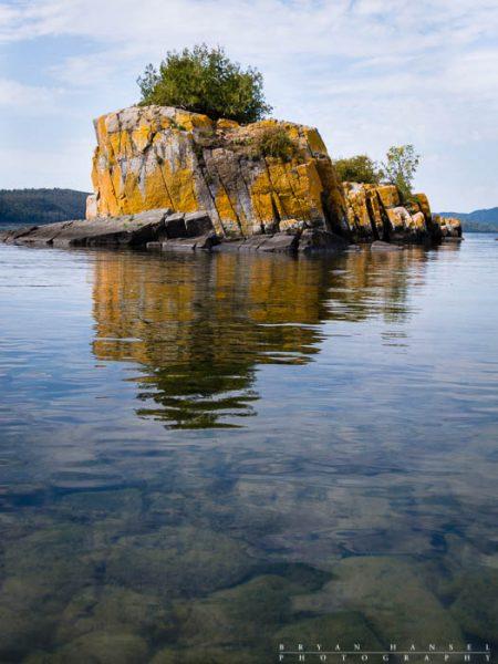 boxcar island on lake superior