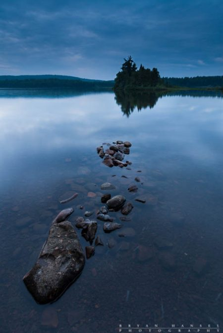 the blue hour on Two Island Lake