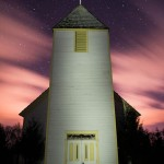 maple hill church at night