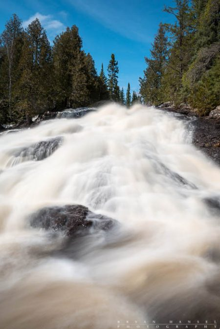 thompson falls on the cascade river