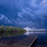 thunderstorm over elbow lake, minnesota
