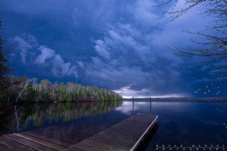 thunderstorm over elbow lake, minnesota