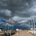 storm over bayfield, wi harbor