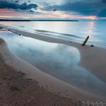 Siskiwit Bay at sunset