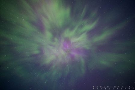 The northern lights vortex directly overhead. 130607-12