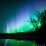 northern lights over Mink Lake