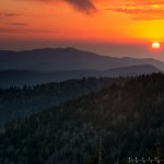 Sunset from Clingmans Dome in the Smoky Mountains.