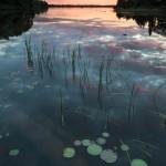 sunset reflections on Two Island Lake