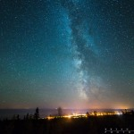 The Milky Way over Grand Marais
