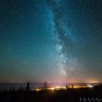 The Milky Way over Grand Marais