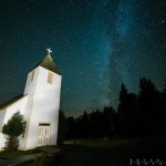 milky way above the Maple Hill Church